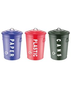 Recycling Centre Bins (Set of 3)