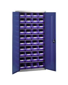Storage Cabinet displayed with 9 Shelves & Bins