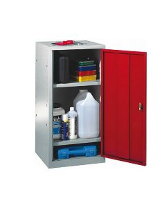 Storage Cupboard with 2 Galvanised Shelves