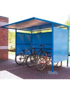 Traditional Cycle Shelters with Perforated Sides