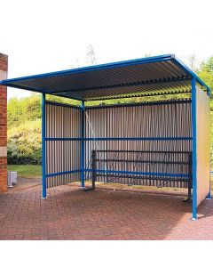Traditional Cycle Shelter - Solid Sided