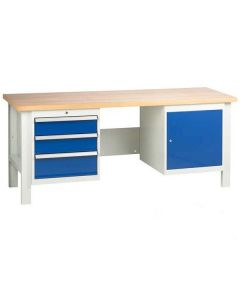 TUFF Bench - 3 Drawers and 1 Cupboard