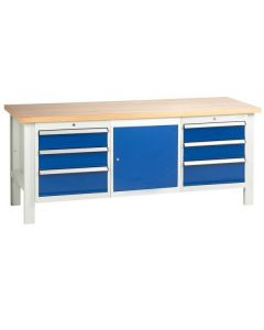 TUFF Bench - 6 Drawers and 1 Cupboard