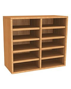 Wall Mounted 10 Compartment Pigeonhole Unit