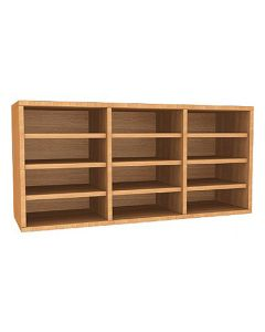 Wall Mounted 12 Compartment Pigeonhole Unit