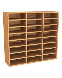 Wall Mounted 24 Compartment Pigeonhole Unit